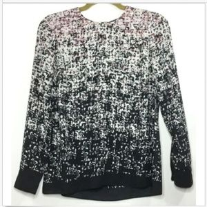VINCE CAMUTO Dressy Career Textured Blouse Top XS